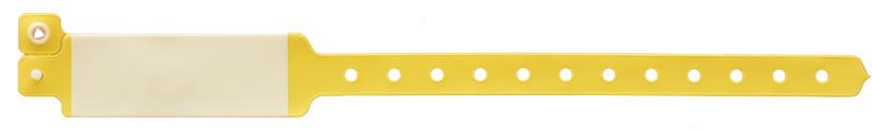 دستبند بیمار ونیلی بزرگسال زرد