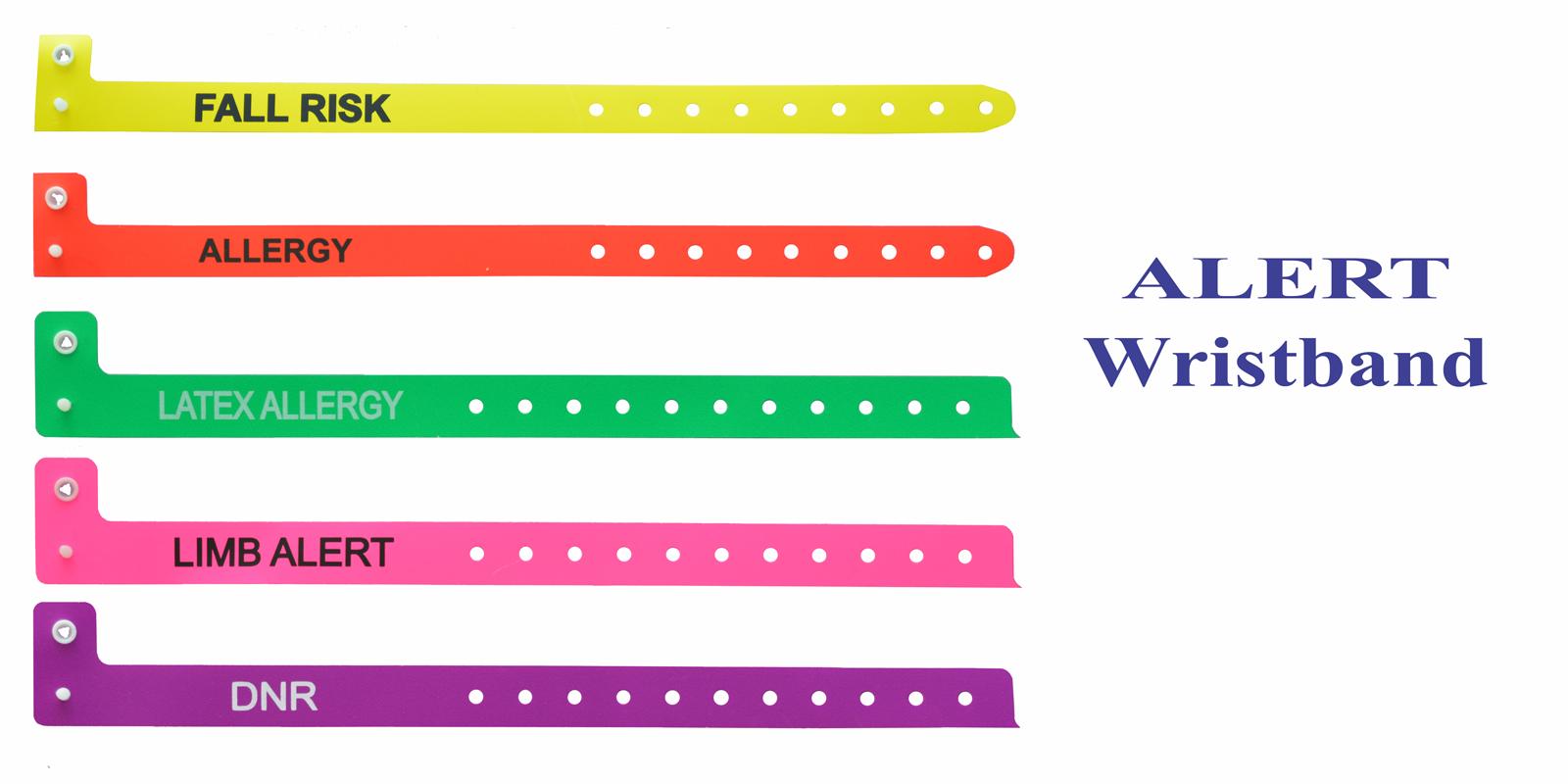 دستبند بیمار علائم هشدار
