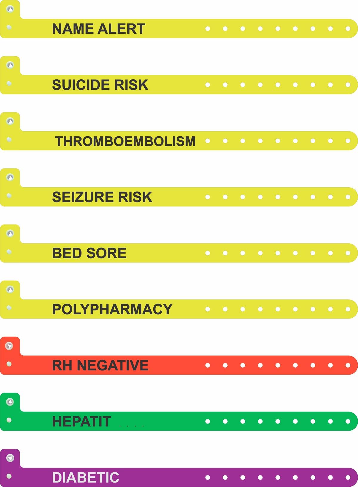 کد لیبل دستبند بیمار بیمارستان