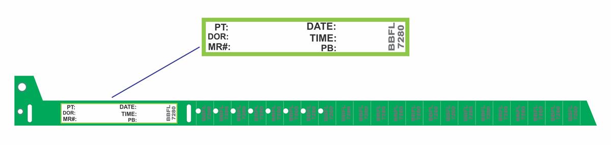 دستبند بیمار خون گیری سبز