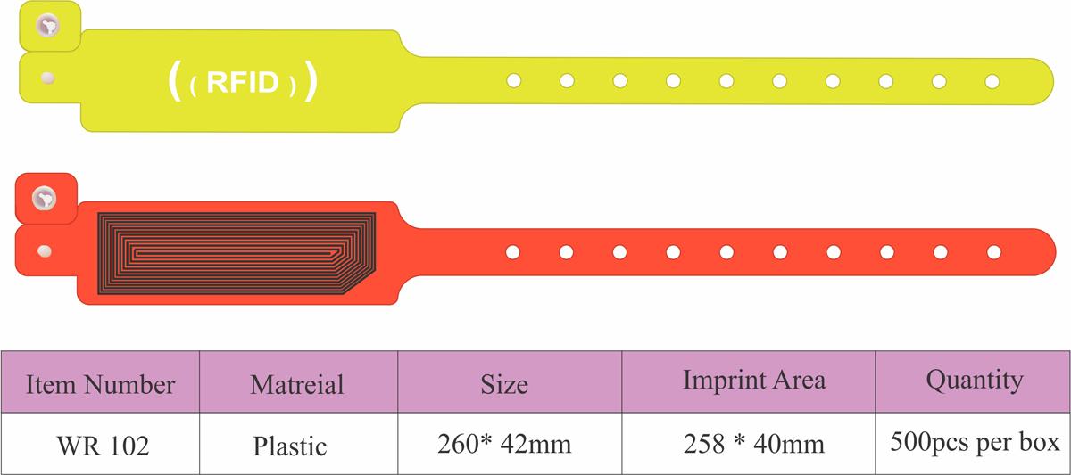 دستبند پلاستیکی RFID