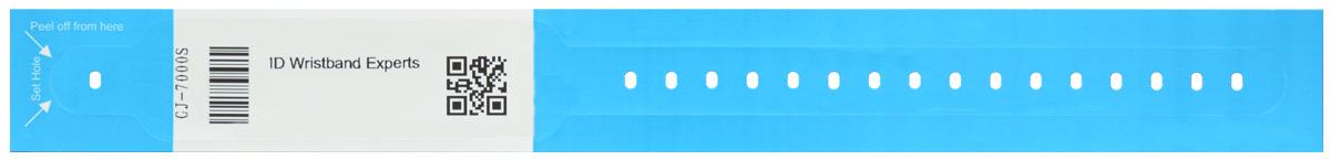 دستبند بیمار دکمه دار بزرگسال آبی