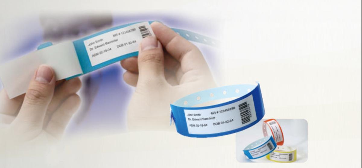 دستبند بیمار دائمی با طلق محافظ