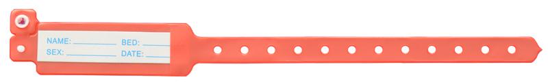 دستبند بیمار با کارتابل بزرگسال قرمز
