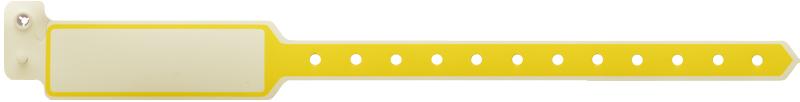 دستبند بیمار پلاستیکی ساده بزرگسال زرد