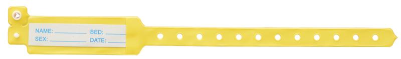 دستبند بیمار با کارتابل بزرگسال زرد