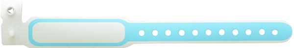 دستبند بیمار پلاستیکی ساده نوزاد آبی