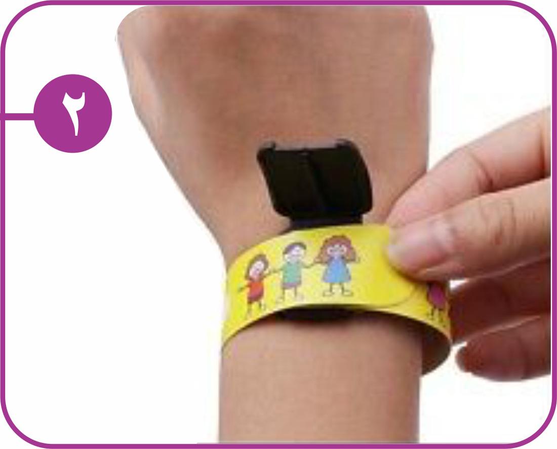 روش استفاده دستبند شناسایی کودک 2
