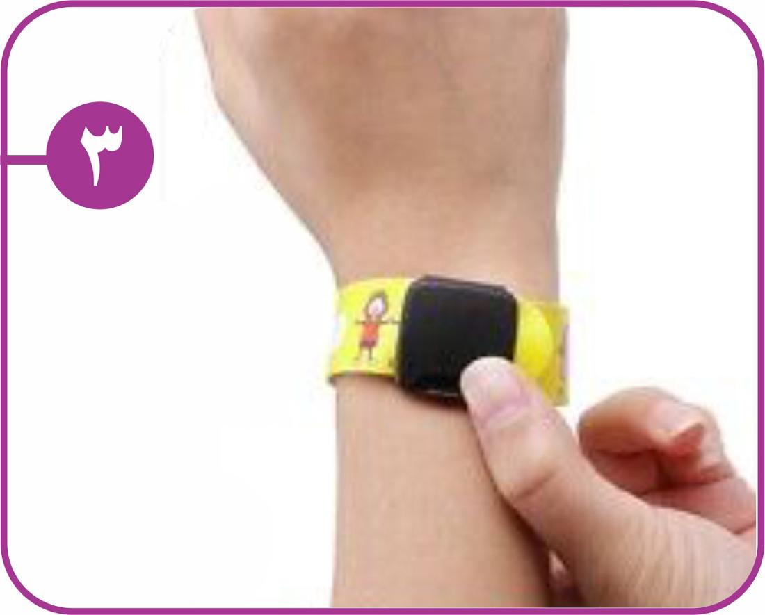 روش استفاده دستبند شناسایی کودک 3