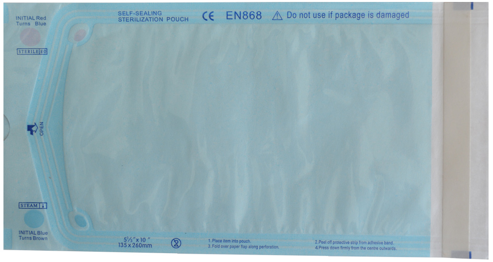 پاکت بسته بندی استریل چسب دار
