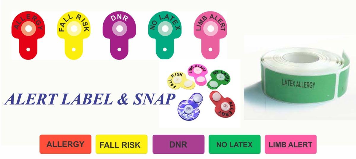 لیبل بیمارستان و گیره دستبند بیمار
